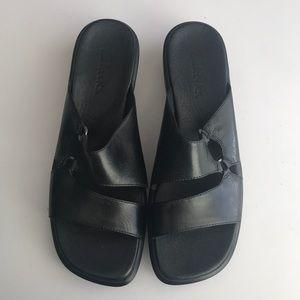 NEW Black Clark's Slip On Sandals